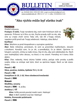 bl. 28.12.2014 - ECAV Dúbravka