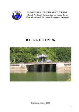 B U L L E T I N  26 - Slovenský priehradný výbor
