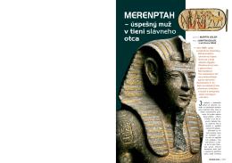 Merenptah - úspešný muž v tieni slávneho otca