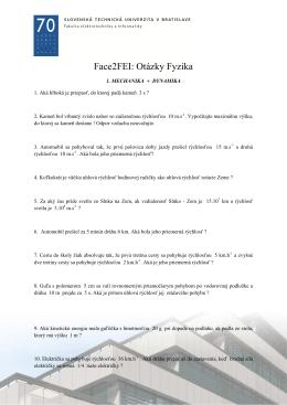 Face2FEI: Otázky Fyzika
