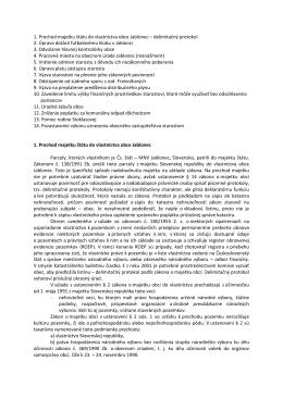 Návrhy uznesení poslancov svojvoľne zrušené starostom