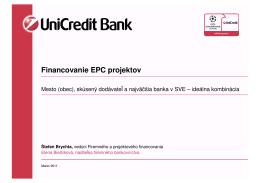 UniCredit Financovanie EPC projektov