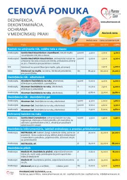 Cennik - pharmacare.sk
