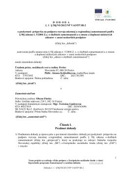 Dohoda o poskytnutí príspevku na podporu rozvoja