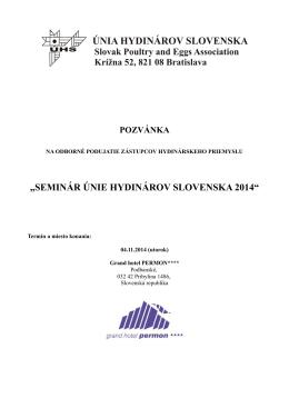 seminár únie hydinárov slovenska 2014