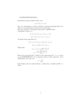 Kvadratické rovnice 1
