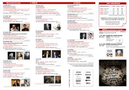 CENY ABONENTIEK Abonentné koncerty: A CYKLUS B CYKLUS