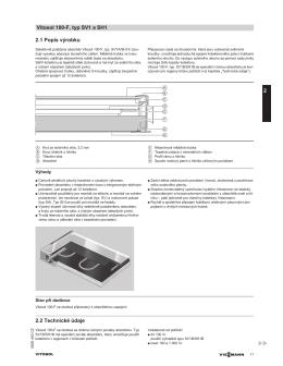 2.1 Popis výrobku 2.2 Technické údaje Vitosol 100-F