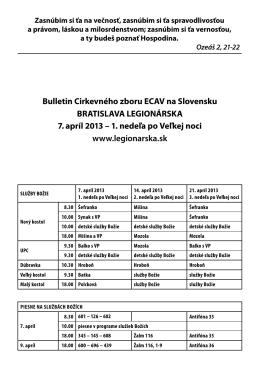 Bulletin Cirkevného zboru ECAV na Slovensku