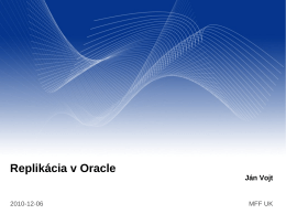 Replikácia v Oracle