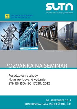 pozvánka na seminár - TECHNICKÝ SKÚŠOBNÝ ÚSTAV Piešťany