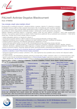 FitLine® Activize Oxyplus Blackcurrant - PM