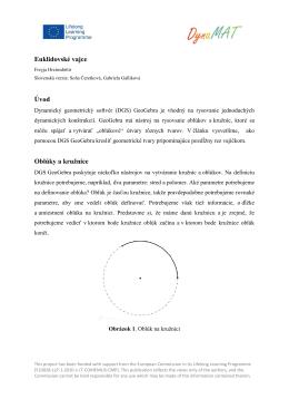 Euklidovské vajce Úvod Oblúky a kružnice