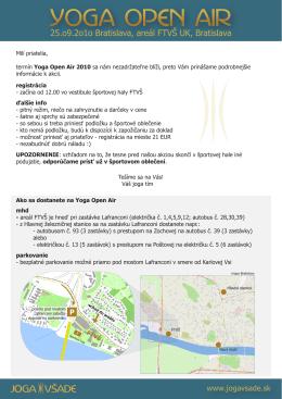 Informačný leták k YOA 2010