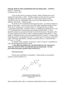 Princípy liečby II. línie nemalobunkového karcinómu pľúc