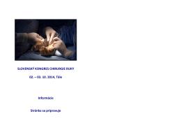 Kongres chirurgie ruky - prihlaskaobr
