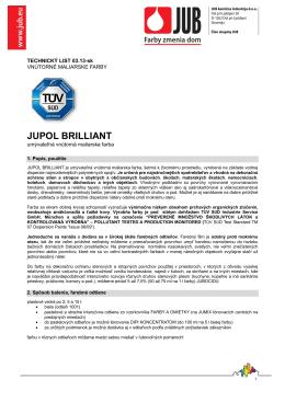 Technický list Jupol Brilliant