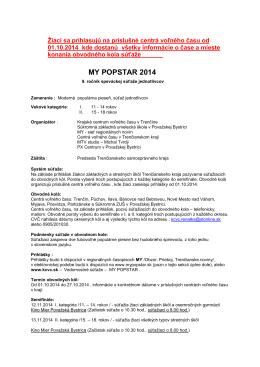 MY POPSTAR 2014 - Centrum voľného času Bánovce nad Bebravou