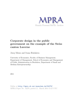 Corporate design in the public government on the example of the