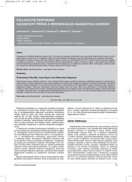 folliculitis perforans kazuistický prípad a diferenciálna diagnostika