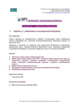 Operačný program Doprava (OPD)