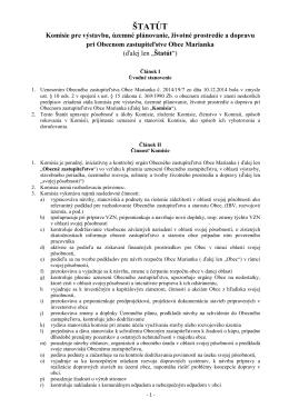 ŠTATÚT - Marianka
