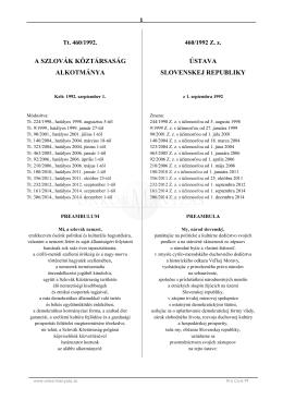 a szlovák köztársaság alkotmánya ústava slovenskej