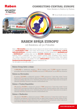 RABEN SPÁJA EUROPU