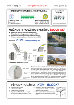 Technický list aplikácia KGM-BLOCK