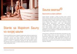 Stante sa Majstrom Sauny vo svojej saune Sauna seansa®