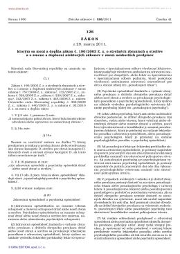 Zákon č. 128/2011 Z.z.
