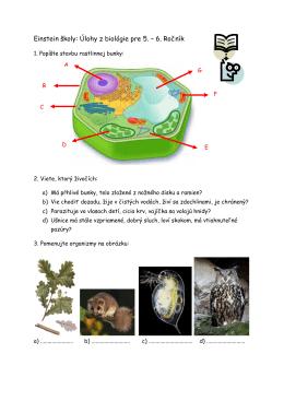 Einstein školy: Úlohy z biológie pre 5. – 6. Ročník