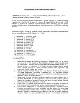 Pravidlá súťaže o Mercedes na mesiac zadarmo UNIVERSAL