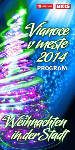 Program Vianoce v meste 2014