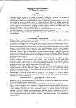 Všeobecné úverové podmienky OTP Banka Slovensko, a. s. 1