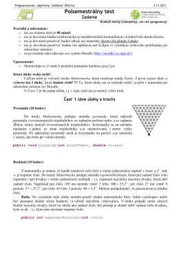Programovanie, algoritmy, zložitosť (PAZ1a)