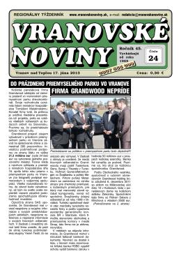 VN2013-24 - Vranovské noviny