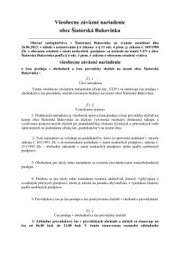 Prevádzková doba - Šiatorská Bukovinka