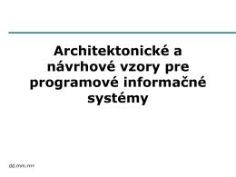 Architektonické vzory pre prezentačnú vrstvu