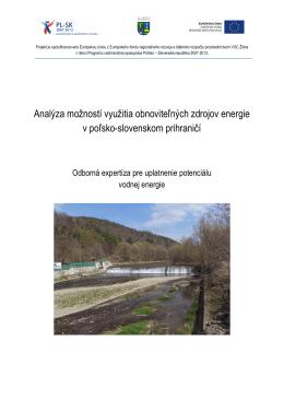 Vodná energia - Eko