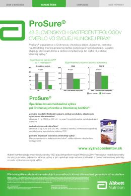 ProSure® - Výživa