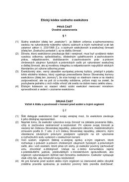 Etický kódex súdneho exekútora
