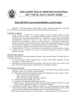 Pokyn RŠ 2012 k prevencii pedikulózy