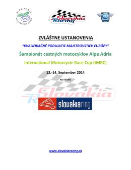 Zvláštne ustanovenie 12.-14.9.2014