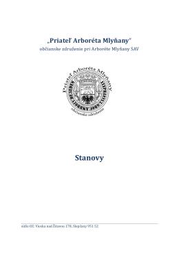 Stanovy občianskeho združenie Priateľ Arboréta Mlyňany