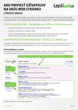 Ako priviesť užívAteľov nA vAšu web stránku stručný