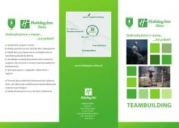Teambuilding ponuka