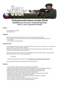 Československá ľudová armáda (ČSLA) Modifikácia