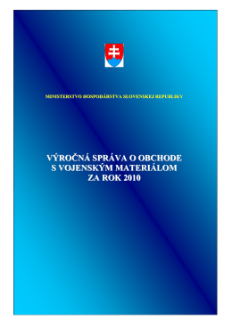 MINISTERSTVO HOSPODRSTVA SLOVENSKEJ REPUBLIKY