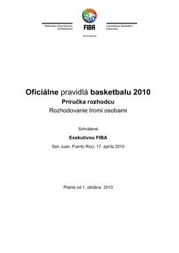 Oficiálne pravidlá basketbalu 2010